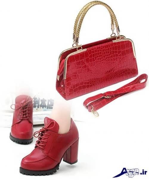 ست کیف و کفش قرمز