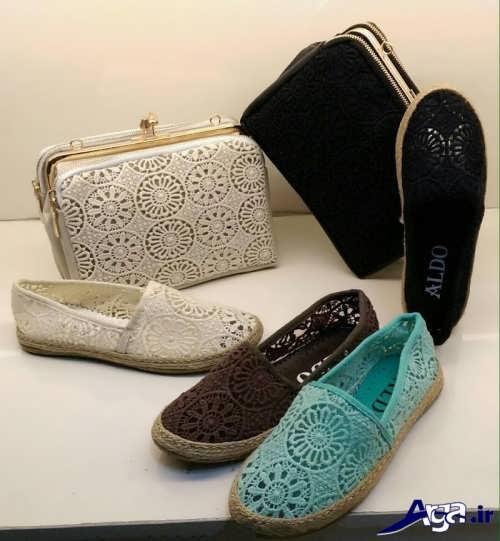 مدل کیف دستی و کفش راحتی ست