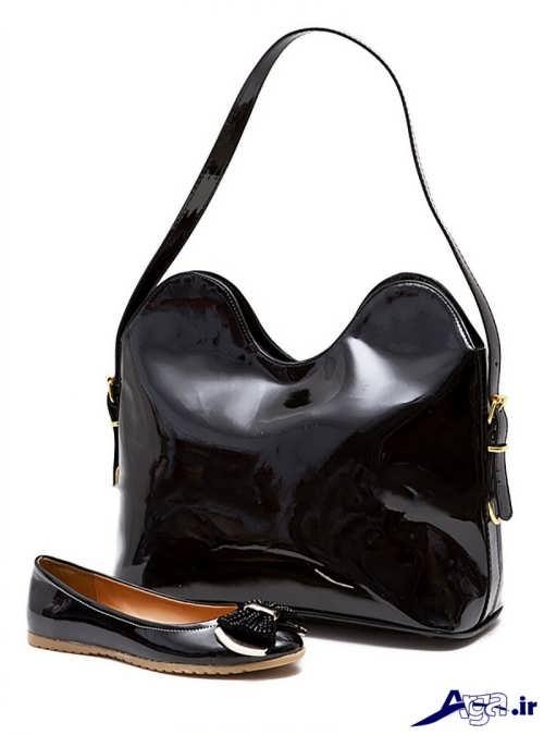 ست کیف و کفش مشکی دخترانه