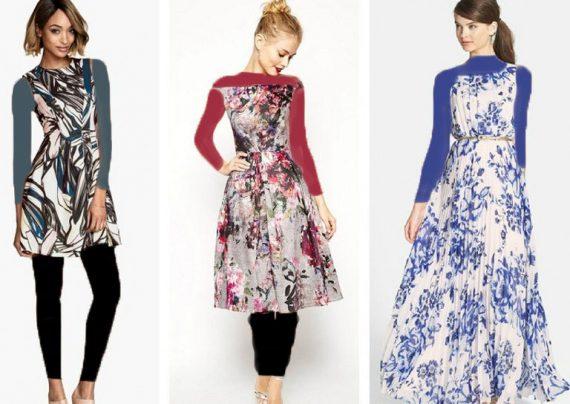 مدل لباس مجلسی حریر طرح دار زنانه و دخترانه