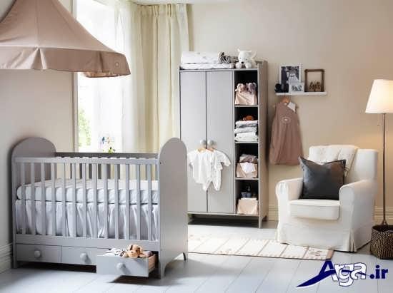 مدل تخت و کمد نوزاد با طرح زیبا و شیک