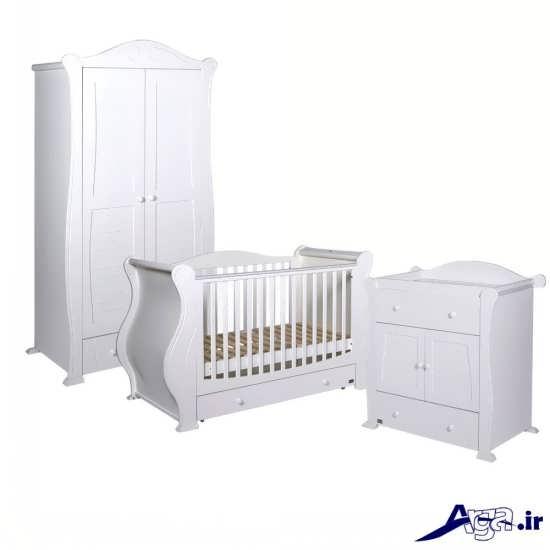 مدل شیک و زیبا کمد و تخت نوزاد