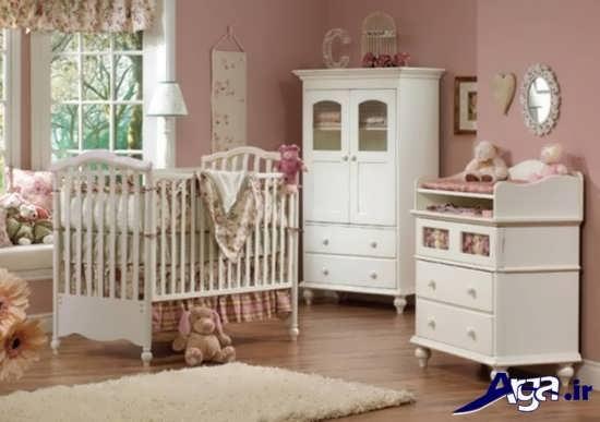 مدل شیک و جذاب تخت و کمد نوزاد