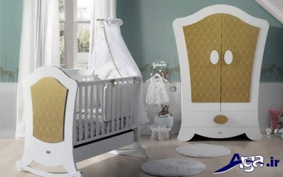 مدل تخت و کمد نوزاد شیک
