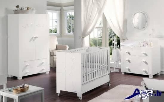 تخت و کمد دخترانه نوزاد