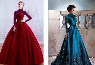 مدل لباس شب پرنسسی شیک و جدید