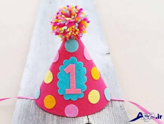 تزیین کلاه تولد یک سالگی