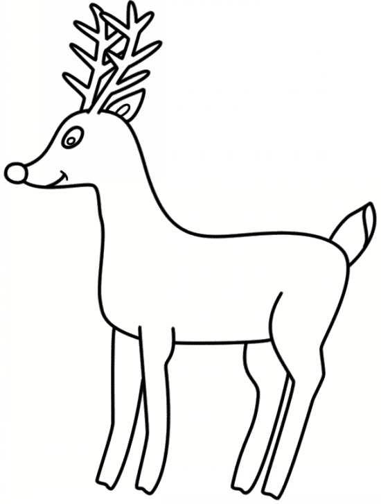 نقاشی کارتونی گوزن