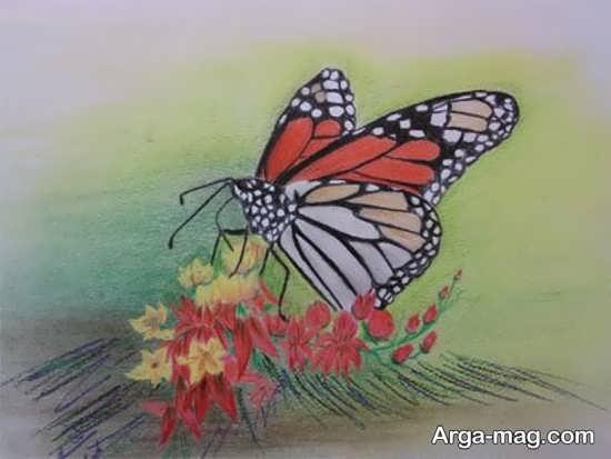 نقاشی پاستل با طرح ساده