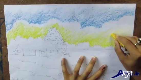 آموزش نقاشی زیبا با پاستل