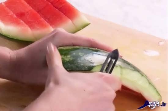 مراحل تهیه مربای پوست هندوانه