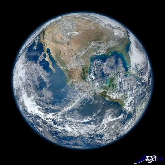 تصاویر زمین از فضا در جهت های مختلف
