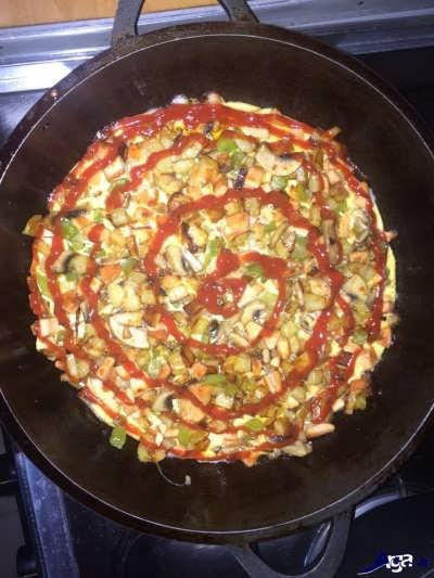 روش تهیه پیتزا تابه ای
