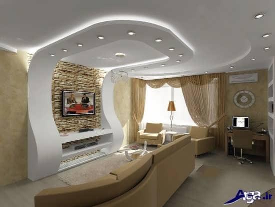 مدل کناف سقف و دیوار برای اتاق خواب