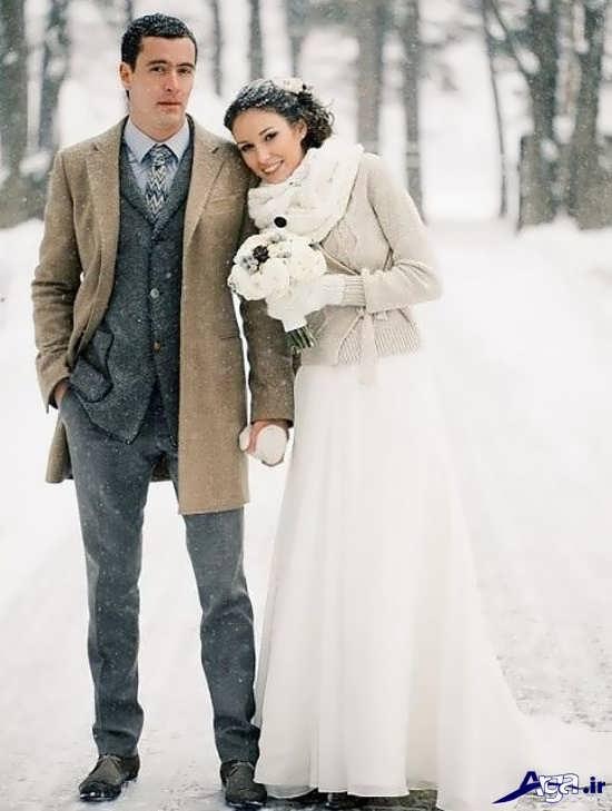 عکس عروس و داماد با ژست زیبا و خاص