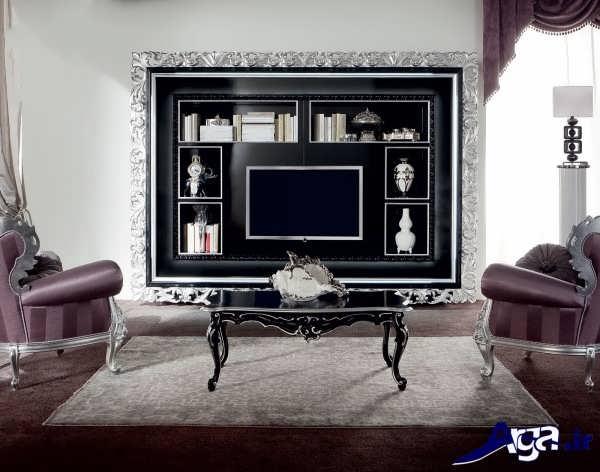 مدل میز تلویزیون دیواری سلطنتی