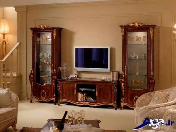 مدل میز تلویزیون سلطنتی سه تکه