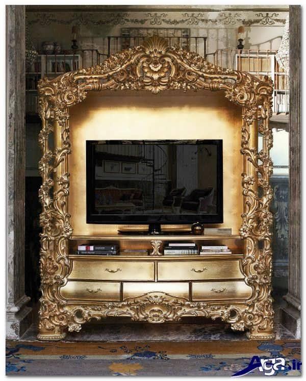 میز تلویزیون سلطنتی با طرح زیبا