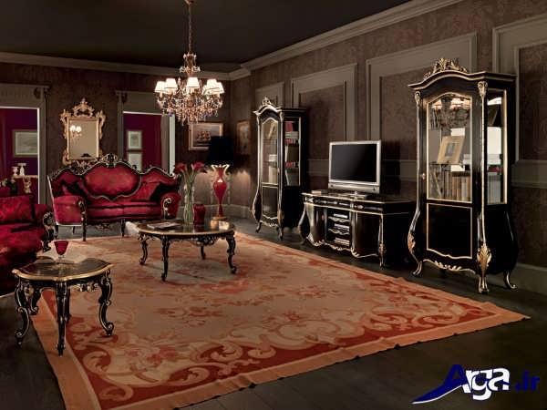 مدل میز تلویزیون سلطنتی با طراحی کاربردی و زیبا