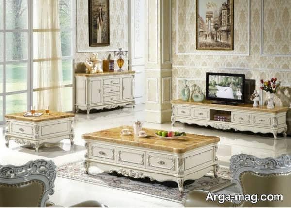 زیباترین مدل میز تی وی سلطنتی