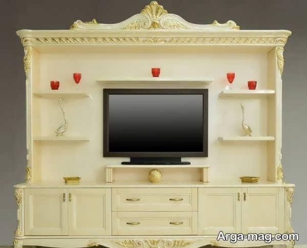 مدل میز تلویزیون سلطنتی لوکس