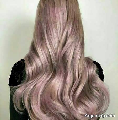 رنگ مو ترکیبی صدفی متفاوت