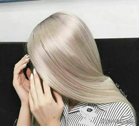 رنگ موهای صدفی تماشایی ترکیبی