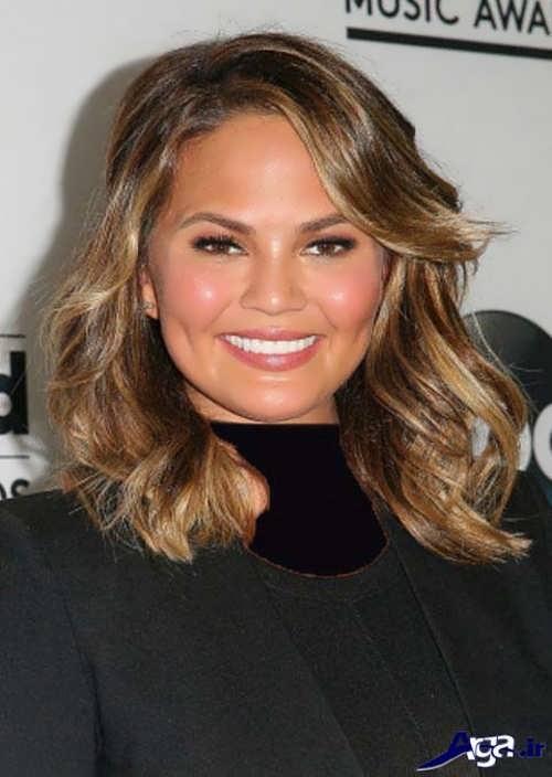 مدل مو متوسط برای صورت گرد