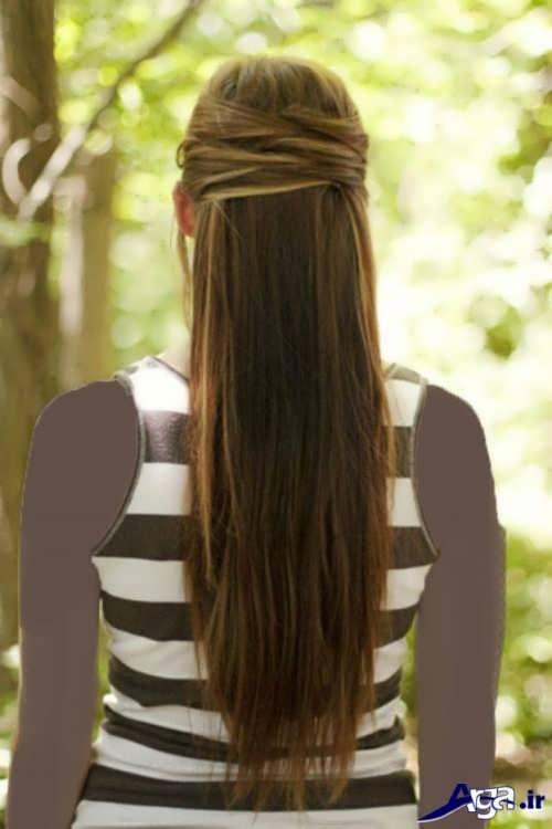 مدل شینیون موی بلند