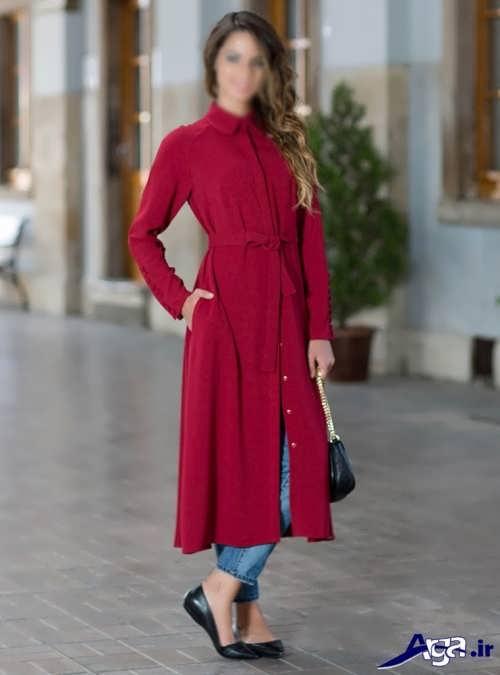 مدل مانتو نخی ساده دخترانه با طرح بلند
