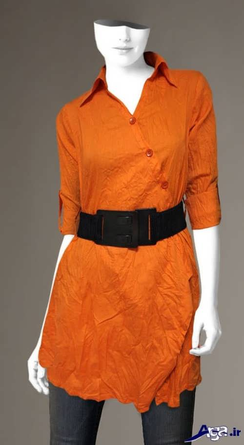 مدل مانتو نارنجی اسپرت