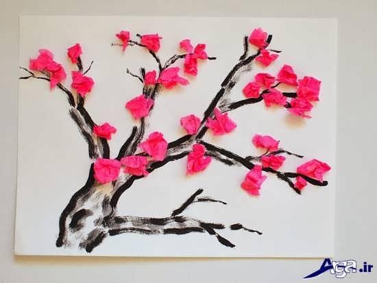 کاردستی شکوفه های بهاری