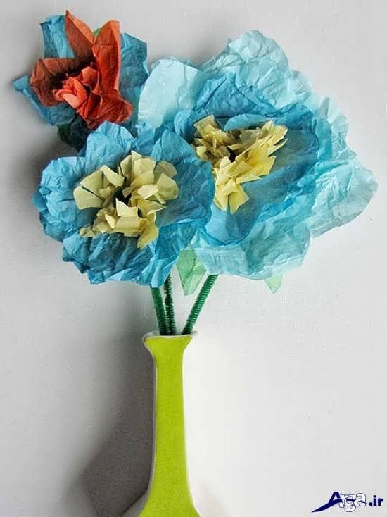 کاردستی گل های کاغذی