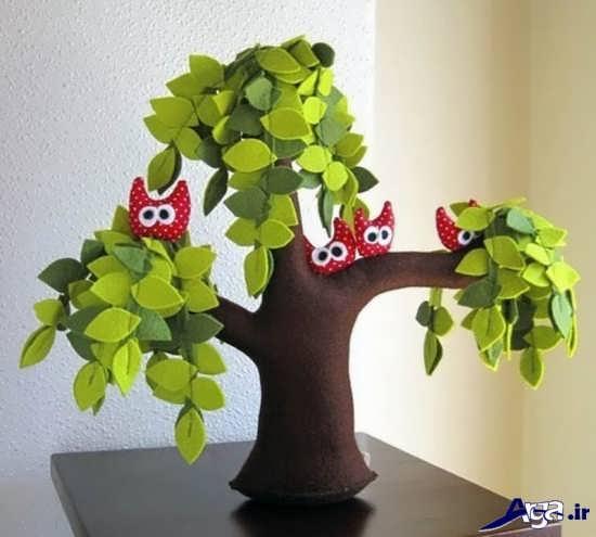 کاردستی درخت در فصل بهار