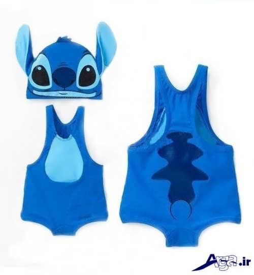 مدل لباس سرهمی نوزاد با رنگ آبی
