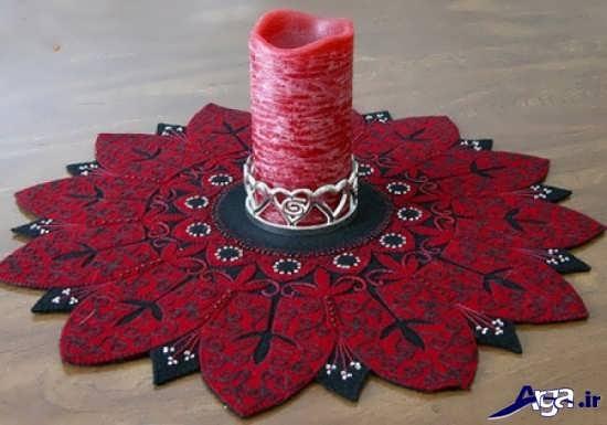 مدل رومیزی سنتی با نمد
