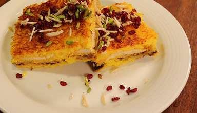 طرز تهیه ته چین مرغ و بادمجان در خانه