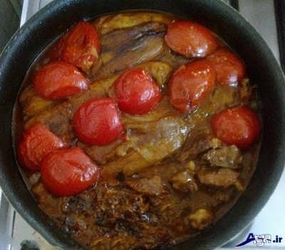 طرز تهیه خورش گوجه بادمجان