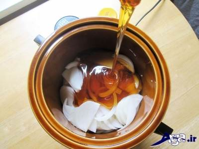 روش درمان سرفه با عسل و پیاز