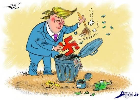 کاریکاتورهای ترامپ