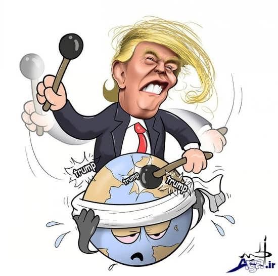 کاریکاتورهای ترامپ پرخرج ترین رئیس جمهور آمریکا