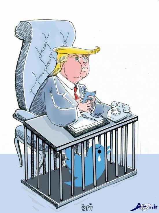 کاریکاتورهای ترامپ توییترباز