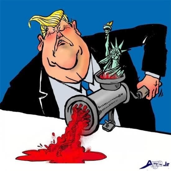 کاریکاتورهای ترامپ در مواضع سیاسی جدیدش