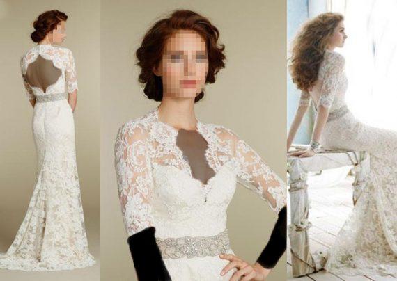 مدل لباس عروس گیپور دار شیک و جدید