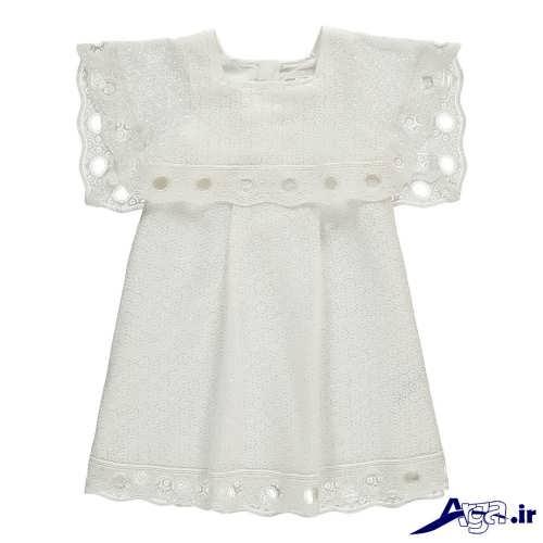 انواع لباس بچه گانه با پارچه نخی مدل لباس گیپور بچه گانه شیک و فانتزی برای دختر بچه های خوش تیپ