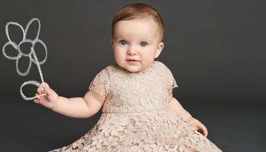 مدل لباس گیپور بچه گانه مجلسی جدید