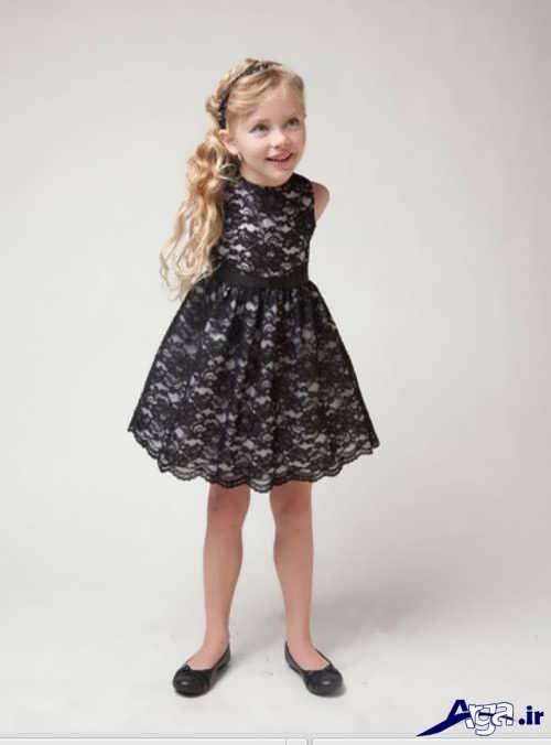 مدل لباس بچه گانه گیپور با طرح هاب شیک