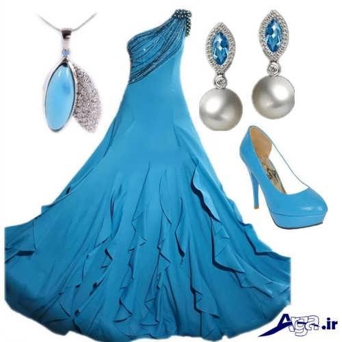 مدل ست آبی لباس محلسی