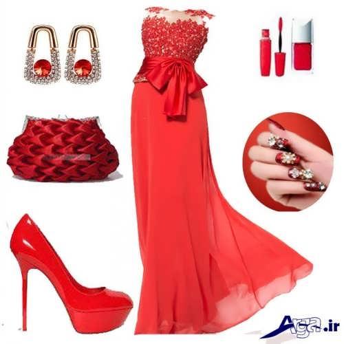 مدل ست قرمز لباس مجلسی