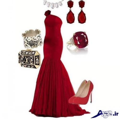 مدل ست پیراهن و کفش قرمز زنانه